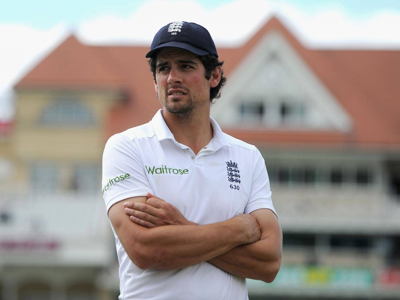 England captain Alastair Cook after drawing the 1st Investec Test match between England and India at Trent Bridge on July 13, 2014 in Nottingham, England.