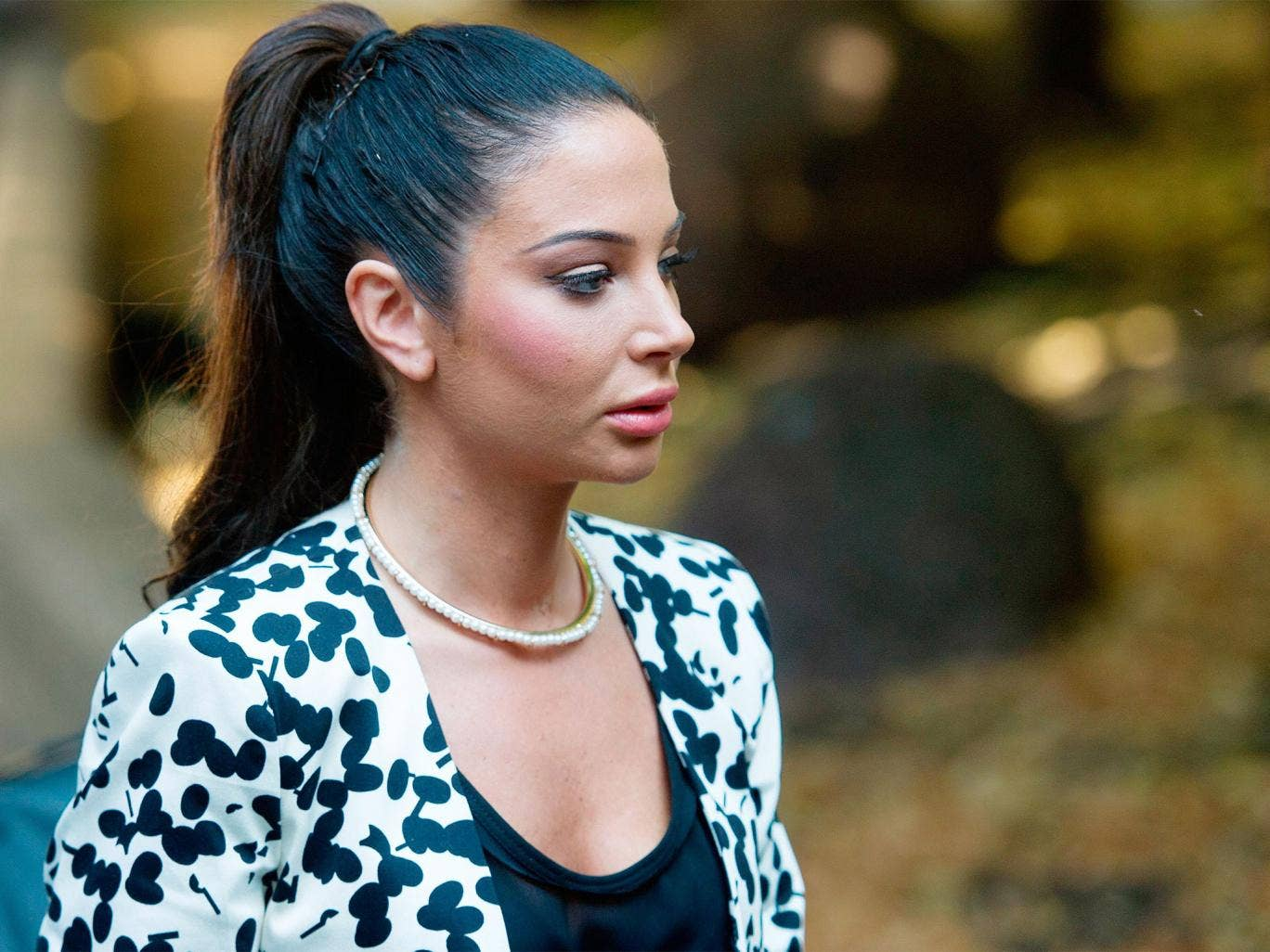 Former 'X Factor' judge Tulisa Contostavlos outside Southwark Crown Court in London