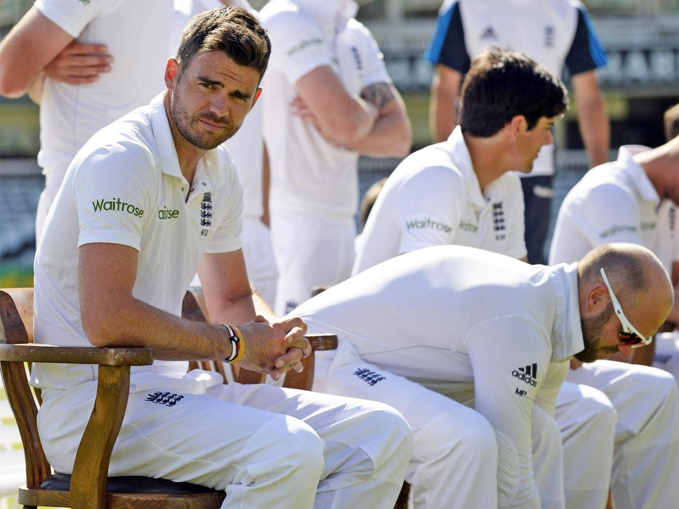 Jimmy Anderson was centre of attention at Lord's during practice