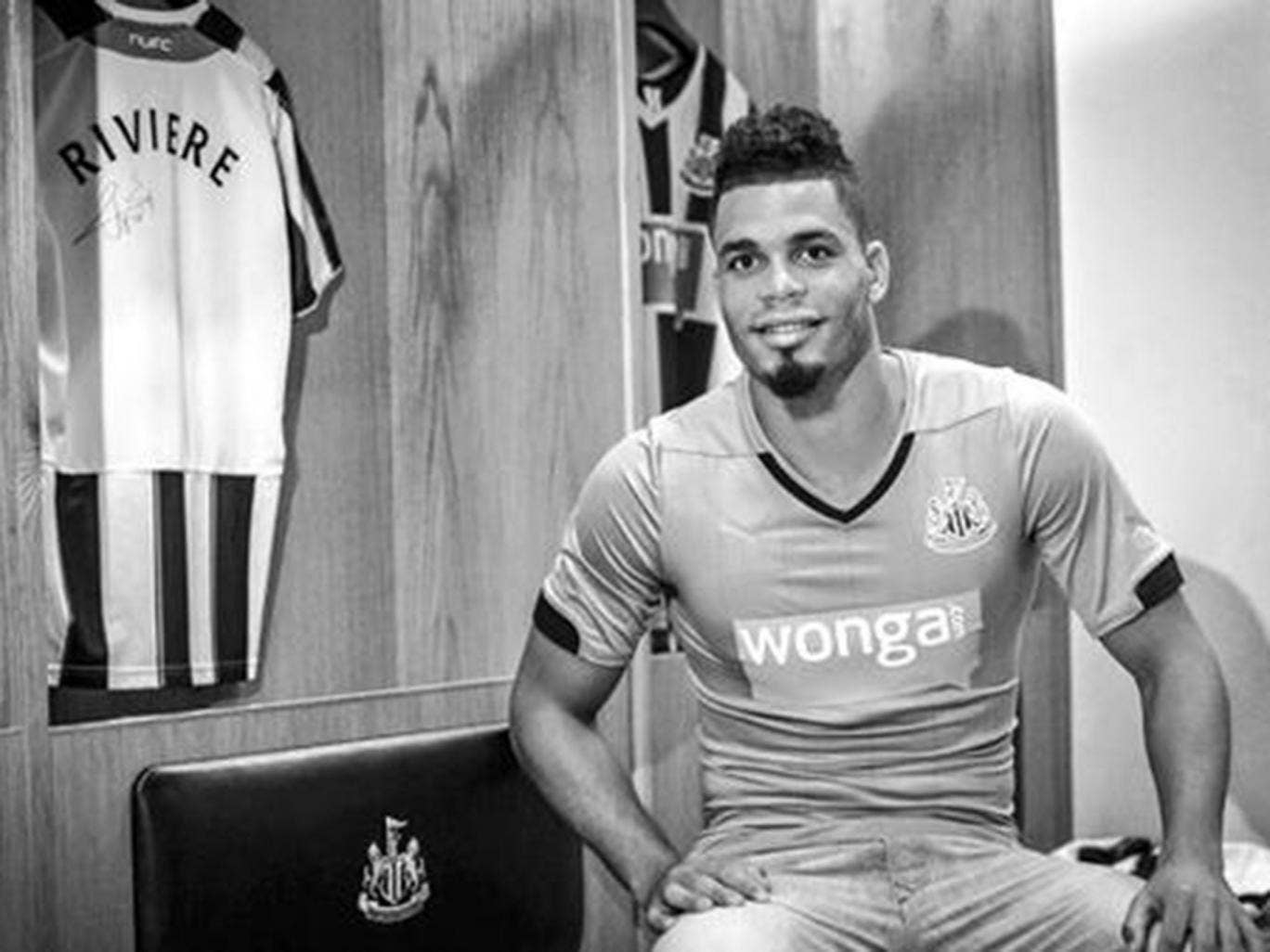 Newcastle unveiled Emmanuel Riviere via their Twitter account