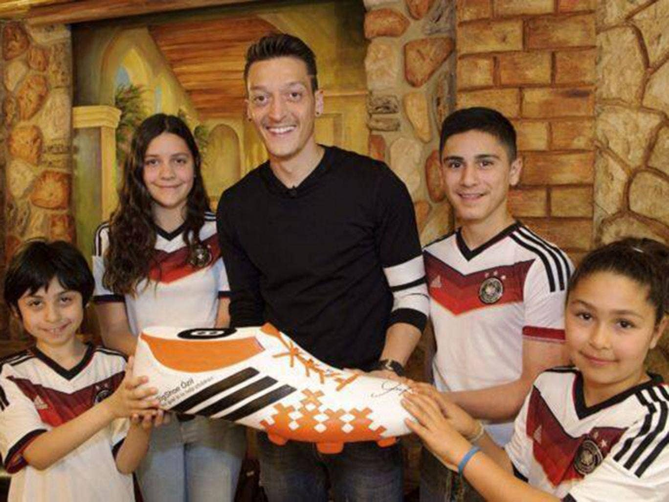 Mesut Özil posted this picture on his Facebook account