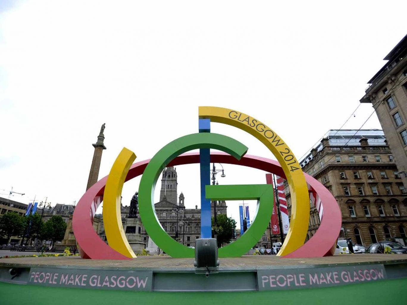 Going logo: The Big G in George Square, Glasgow