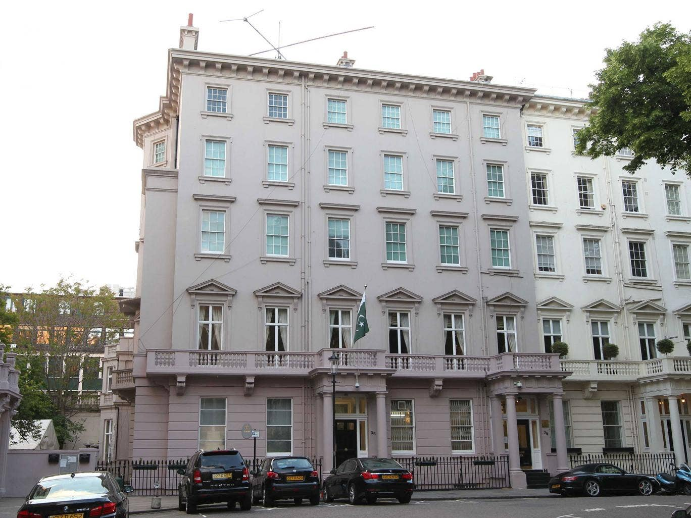 The officials are based in Pakistan's Knightsbridge embassy