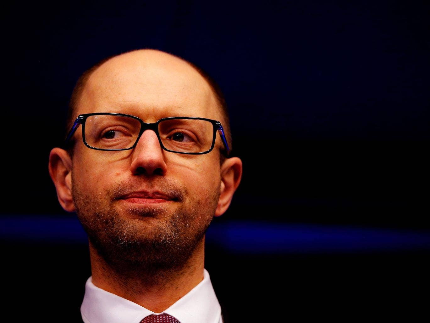 Ukraine Prime Minister, Arseniy Yatseniuk pictured in in Brussels, Belgium.