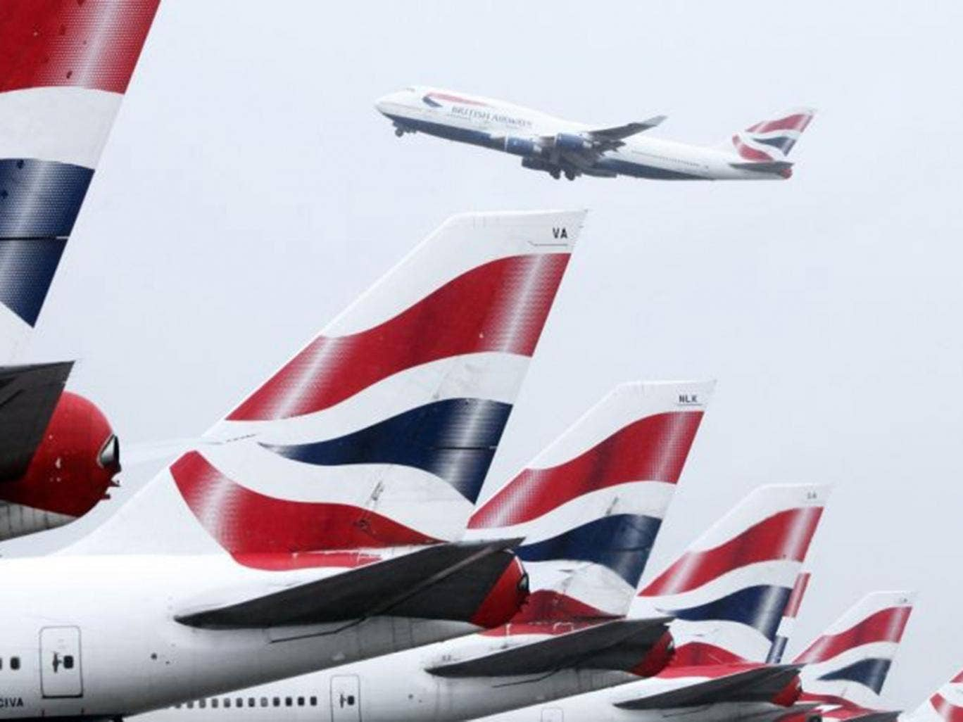 The once-daily British Airways flight to Kiev took off as scheduled