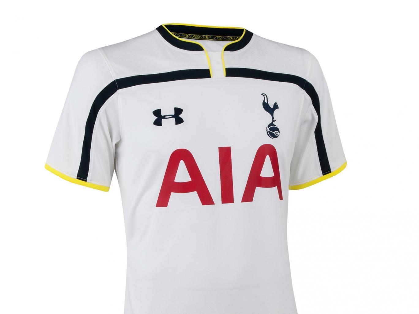 The new Tottenham Hotspur home shirt