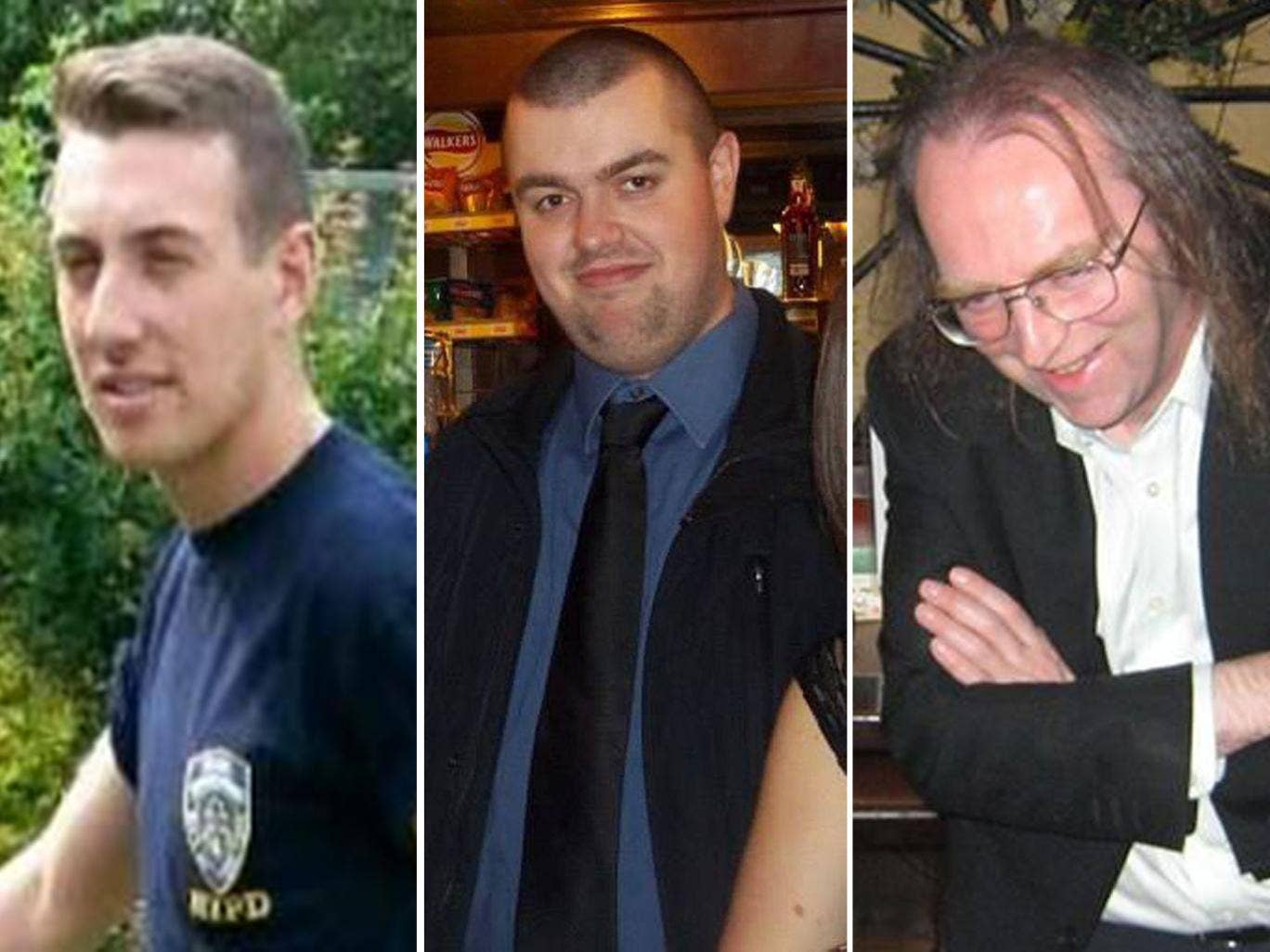 Victims of the crash: (from left to right) Ben Pocock, Liam Sweeney and John Alder