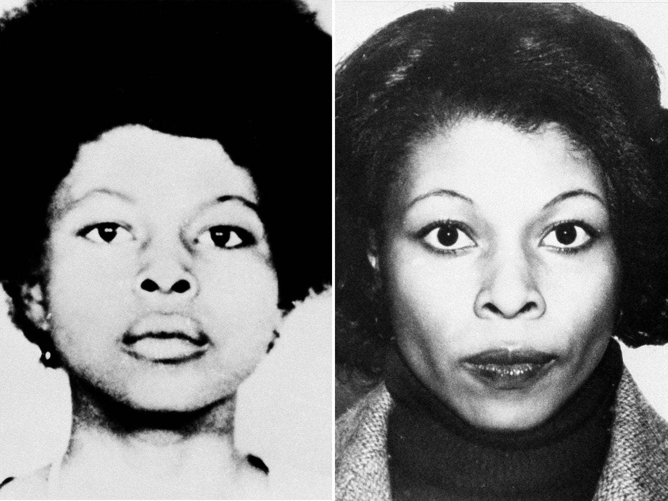 FBI photos depict various appearances of the convicted murderer JoAnne Chesimard