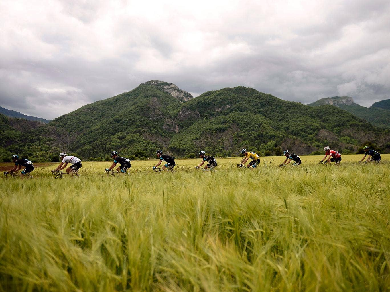 There is not so much as a kilometre of flat packed into the 177km that comprise the stage.