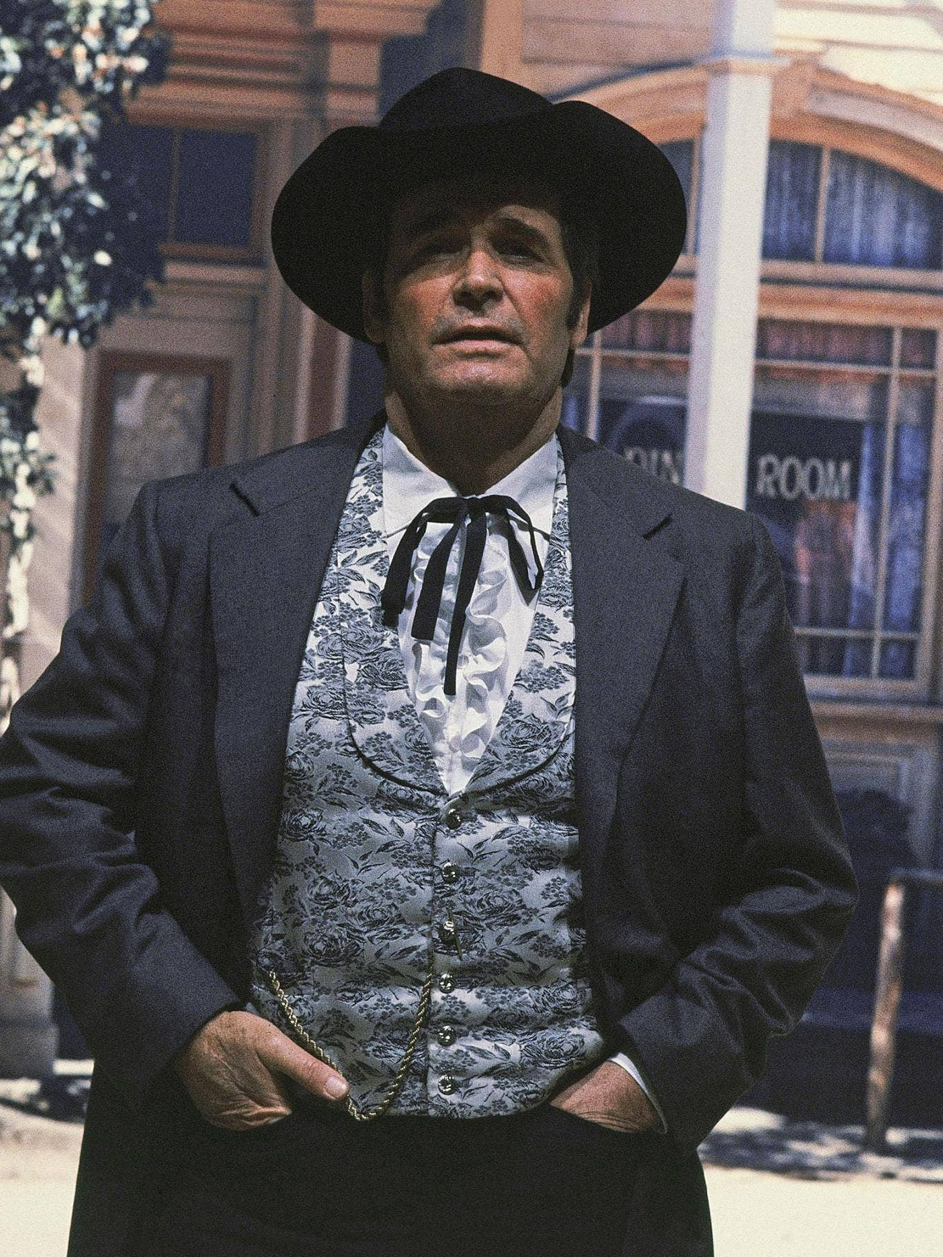 James Garner reprising the role of Bret Maverick for a television sequel series in 1982