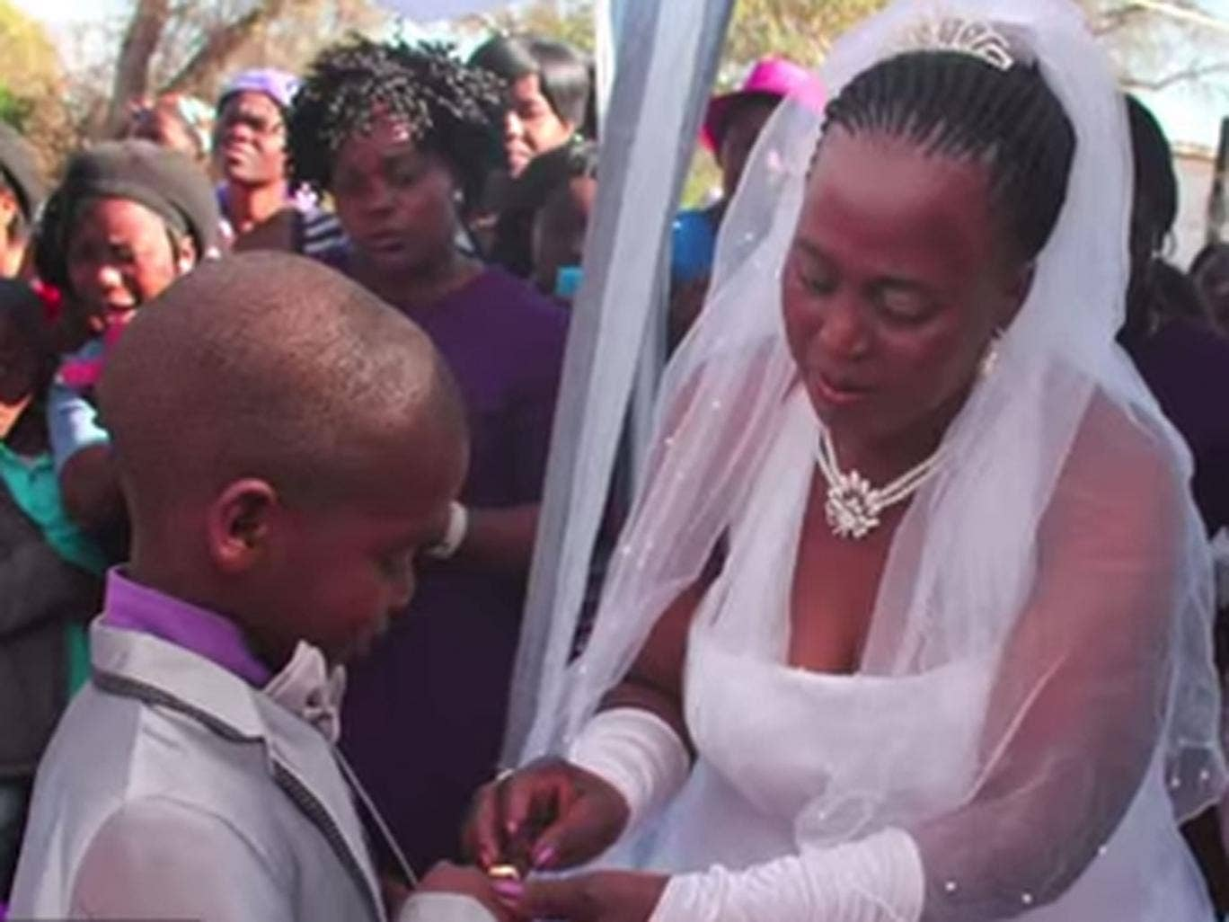 Saneie Masilela and Helen Shabangu exchange rings