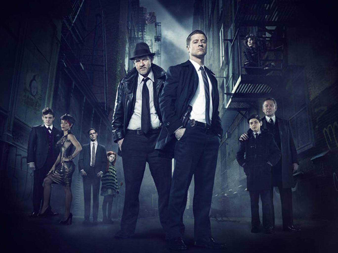 A promotional shot for new TV series Gotham based on the DC Comic universe