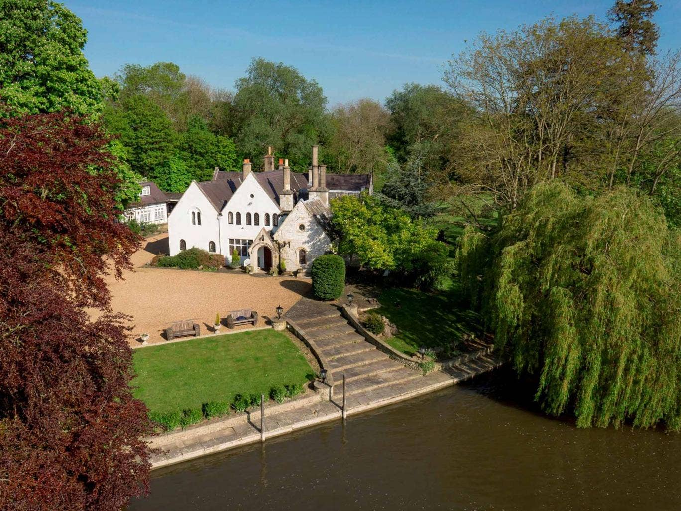Magna Carta Island is for sale through Sotheby's International Realty for £3,950,000