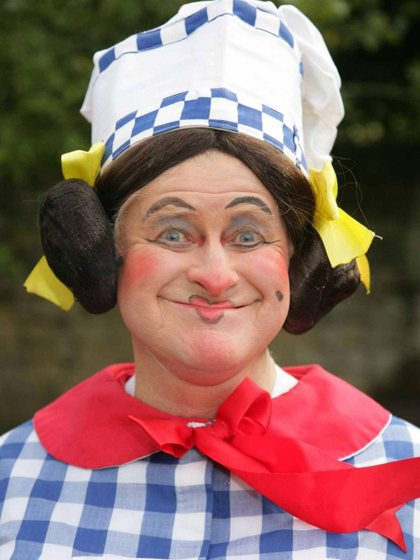 Harris as Sarah the Cook in the 2011-12 production of 'Dick Whittington' at Bath Theatre Royal