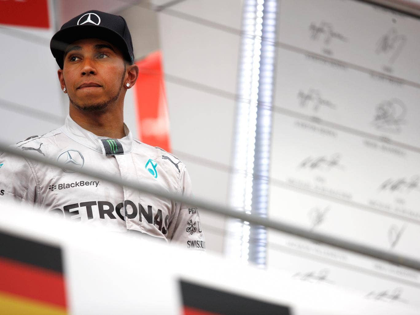 Lewis Hamilton pictured after the German GP