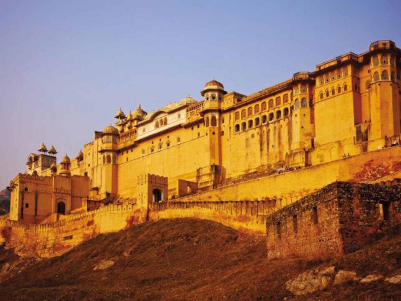 Mellow yellow: the Amber Palace in Jaipur