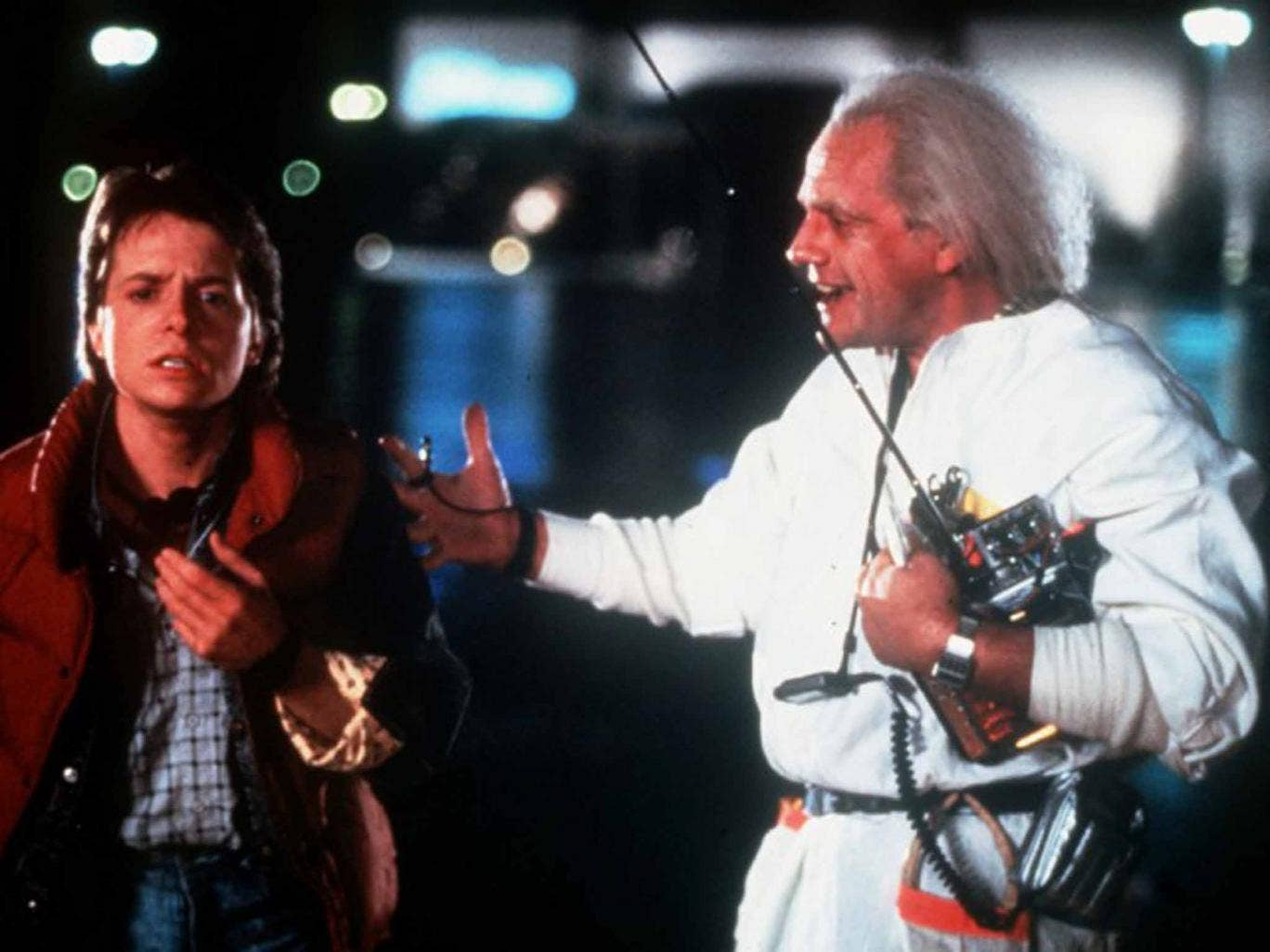 Standing the test of time: Michael J Fox and Christopher Lloyd in 'Back to the Future'