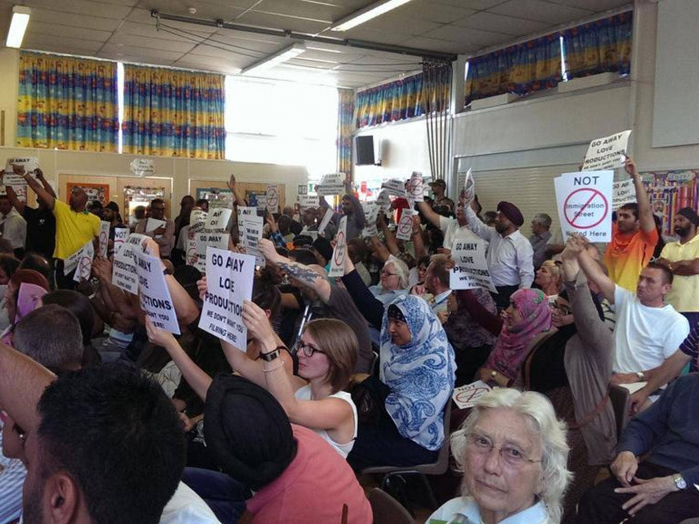 Residents of Derby Road in Southampton oppose filming of Channel 4 documentary Immigration Street in their community