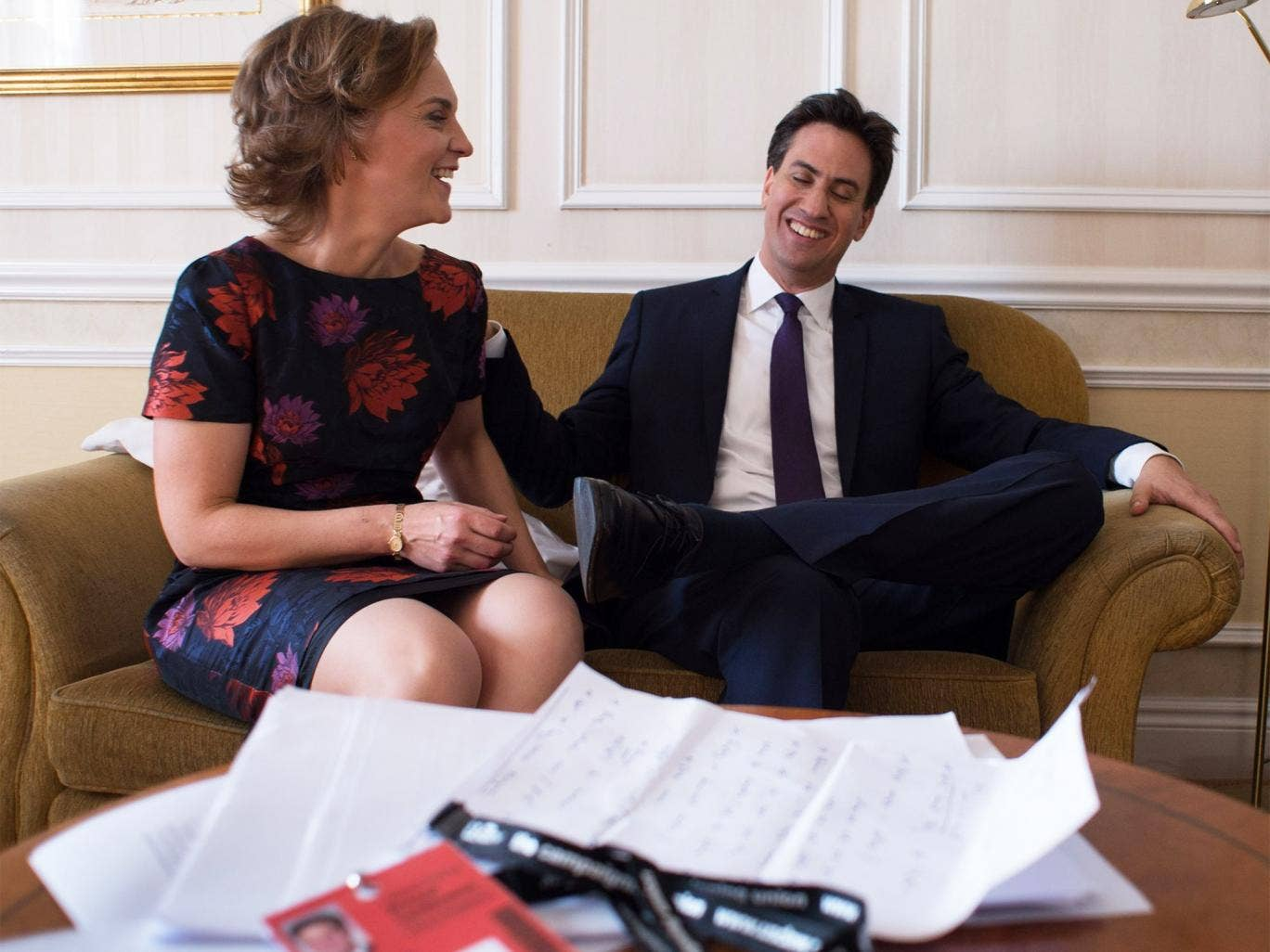 Justine Thornton with her husband, Labour leader Ed Miliband