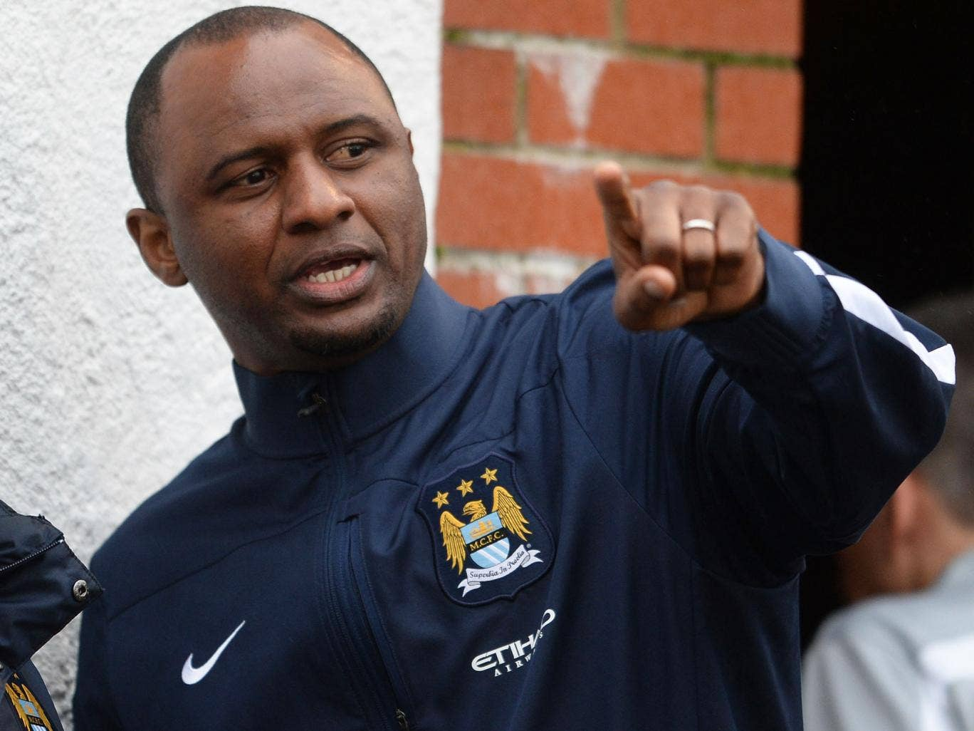 Patrick Vieira is a youth coach at Manchester City