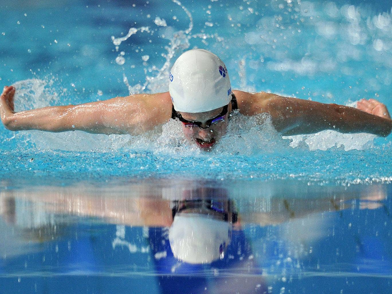 Hannah Miley of England competes in the Women's 400m Individual Medley heat during the 2014 Commonwealth Games