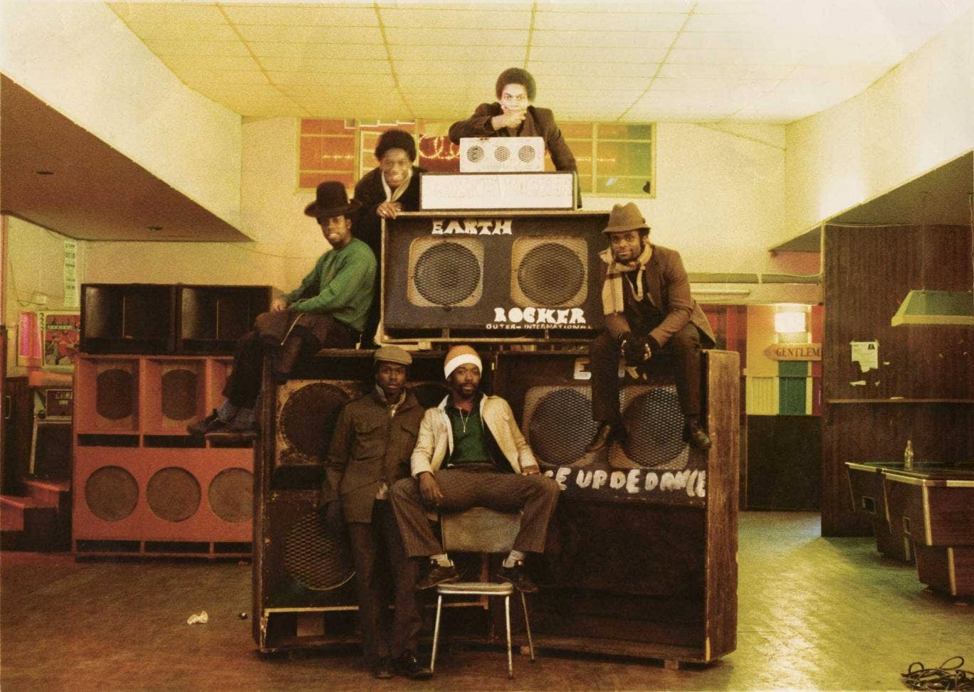 Sound clash: the Earth Rocker sound system crew at work in Venn Street in the late 1970s