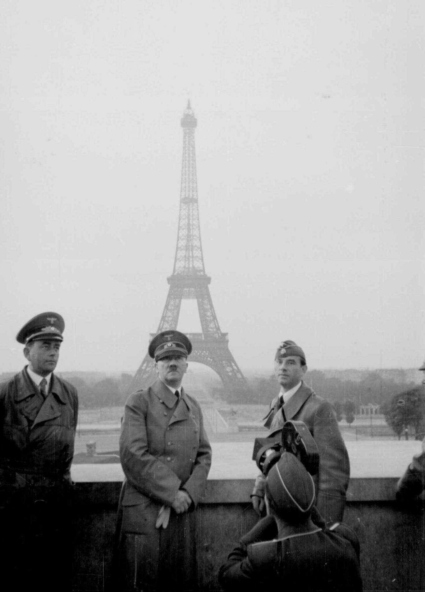 Hitler in Paris in 1940, soon after the German invasion
