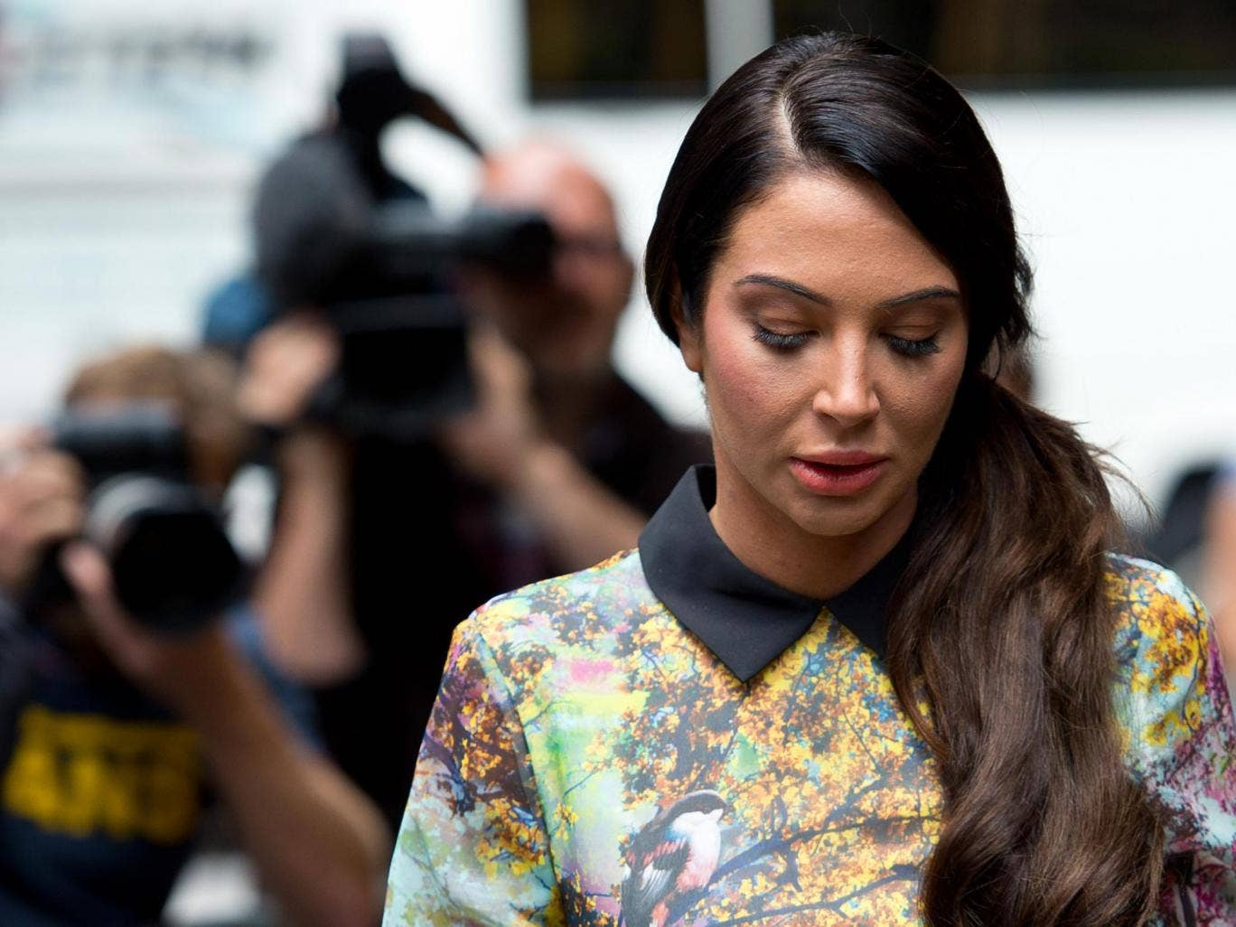 Tulisa Contostavlos arrives to face drug charges at Southwark Crown