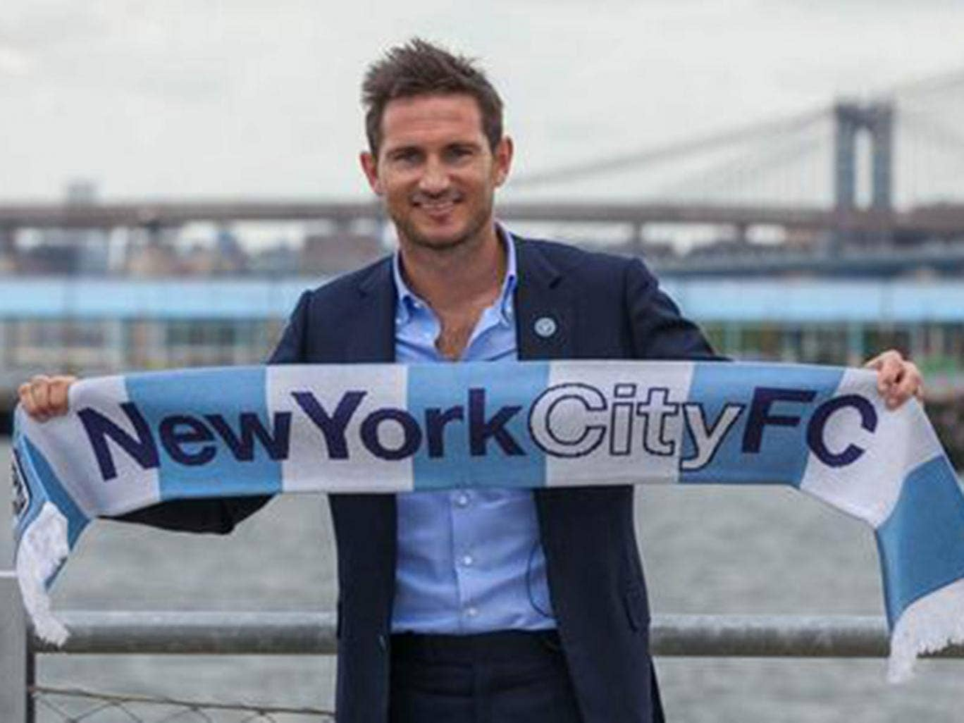 Frank Lampard is presented as a New York City FC player