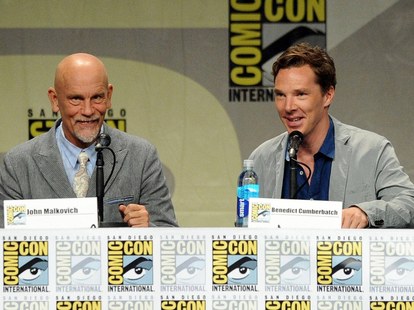 Benedict Cumberbatch and John Malkovich talk Penguins of Madagascar at Comic-Con
