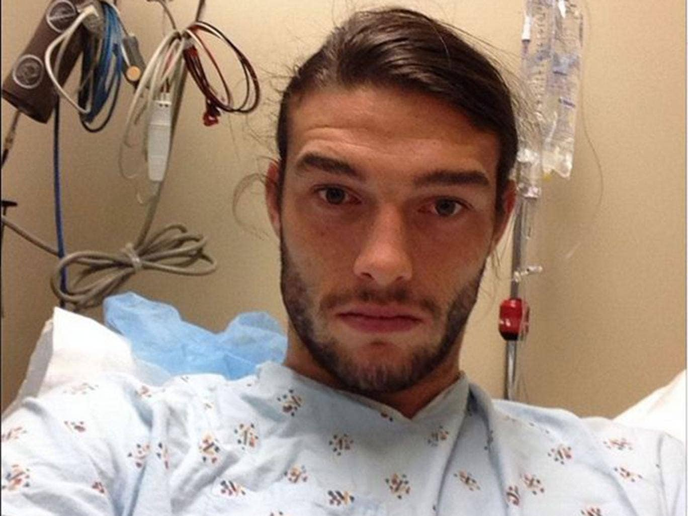 Andy Carroll posted this picture ahead of having ankle surgery that threatens to rule him out for up to four months