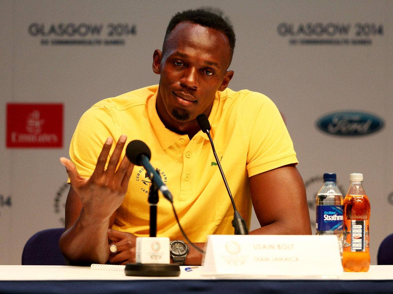Usain Bolt vowed to beat runner that he labelled as 'drugs cheats'
