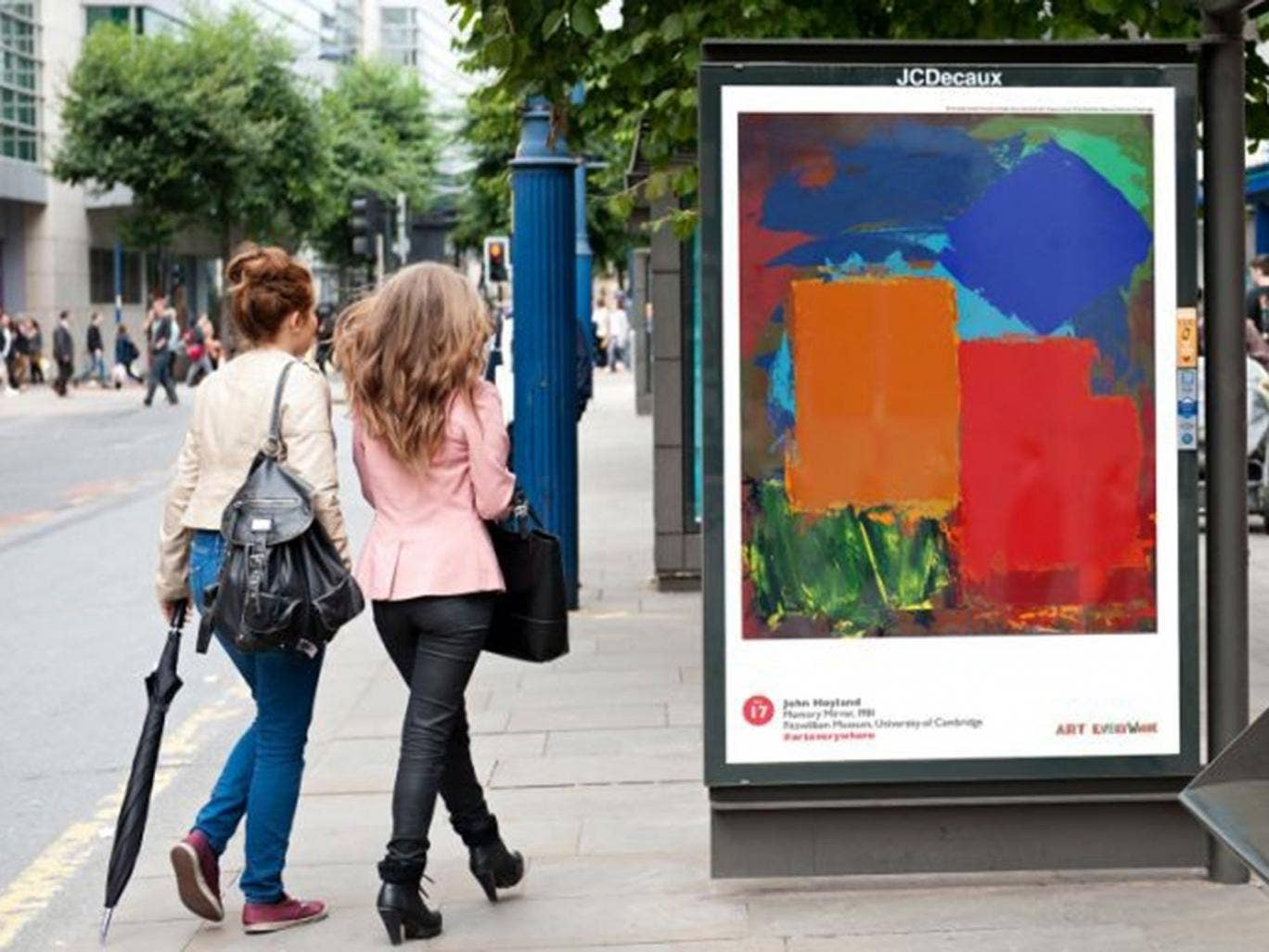 Public vote: Art Everywhere poster in a bus shelter featuring John Hoyland