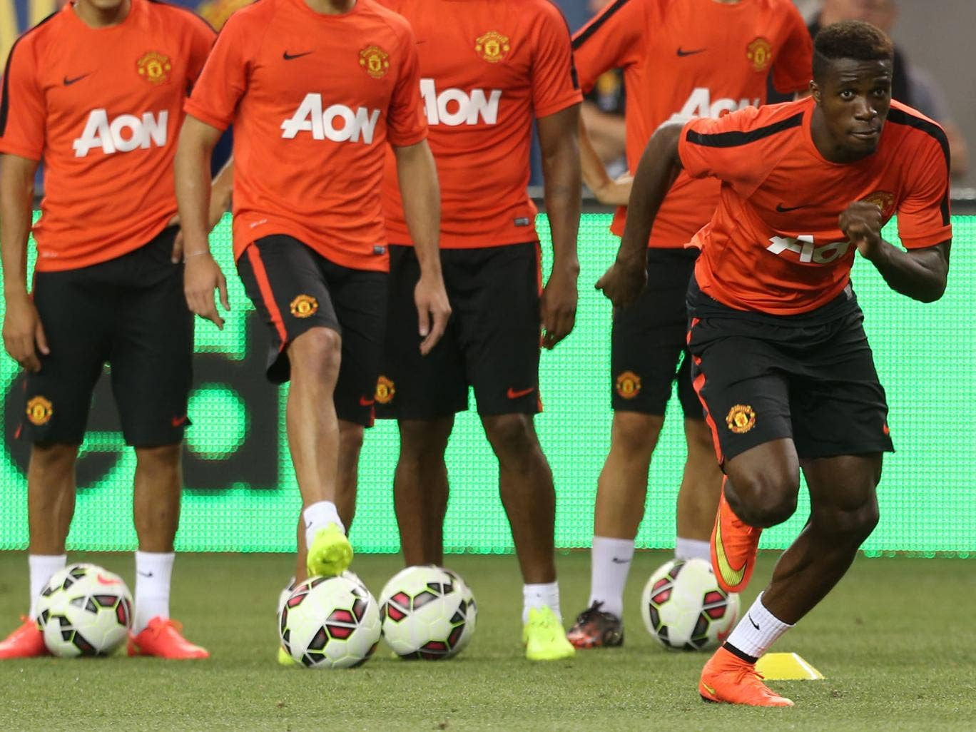 Wilfred Zaha pictured during Manchester United's pre-season tour