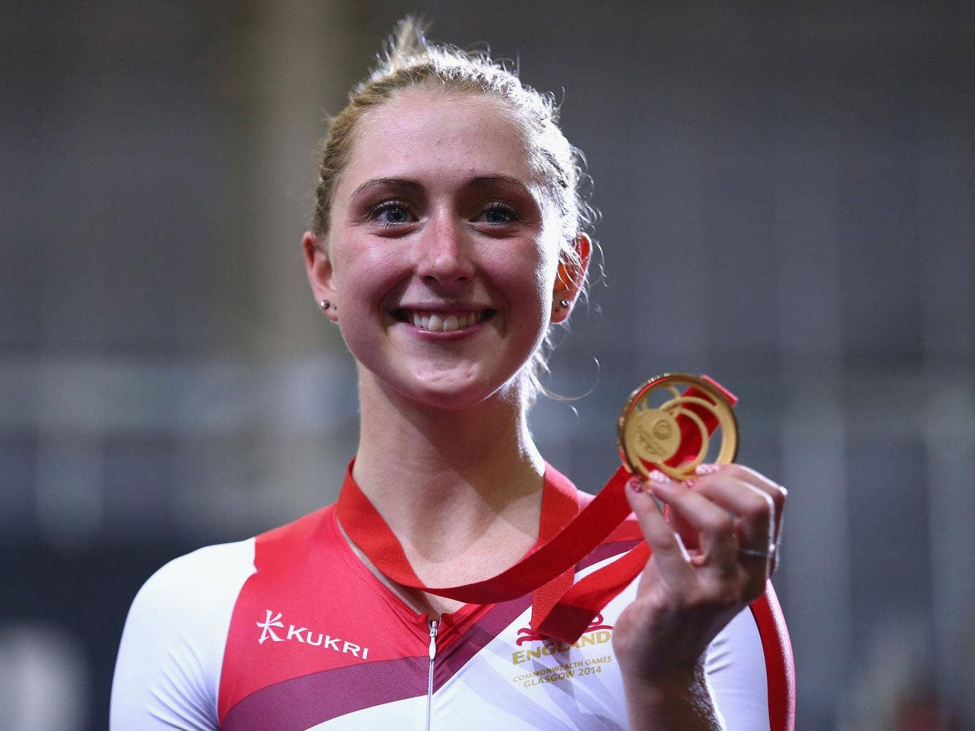 Laura Trott with her gold