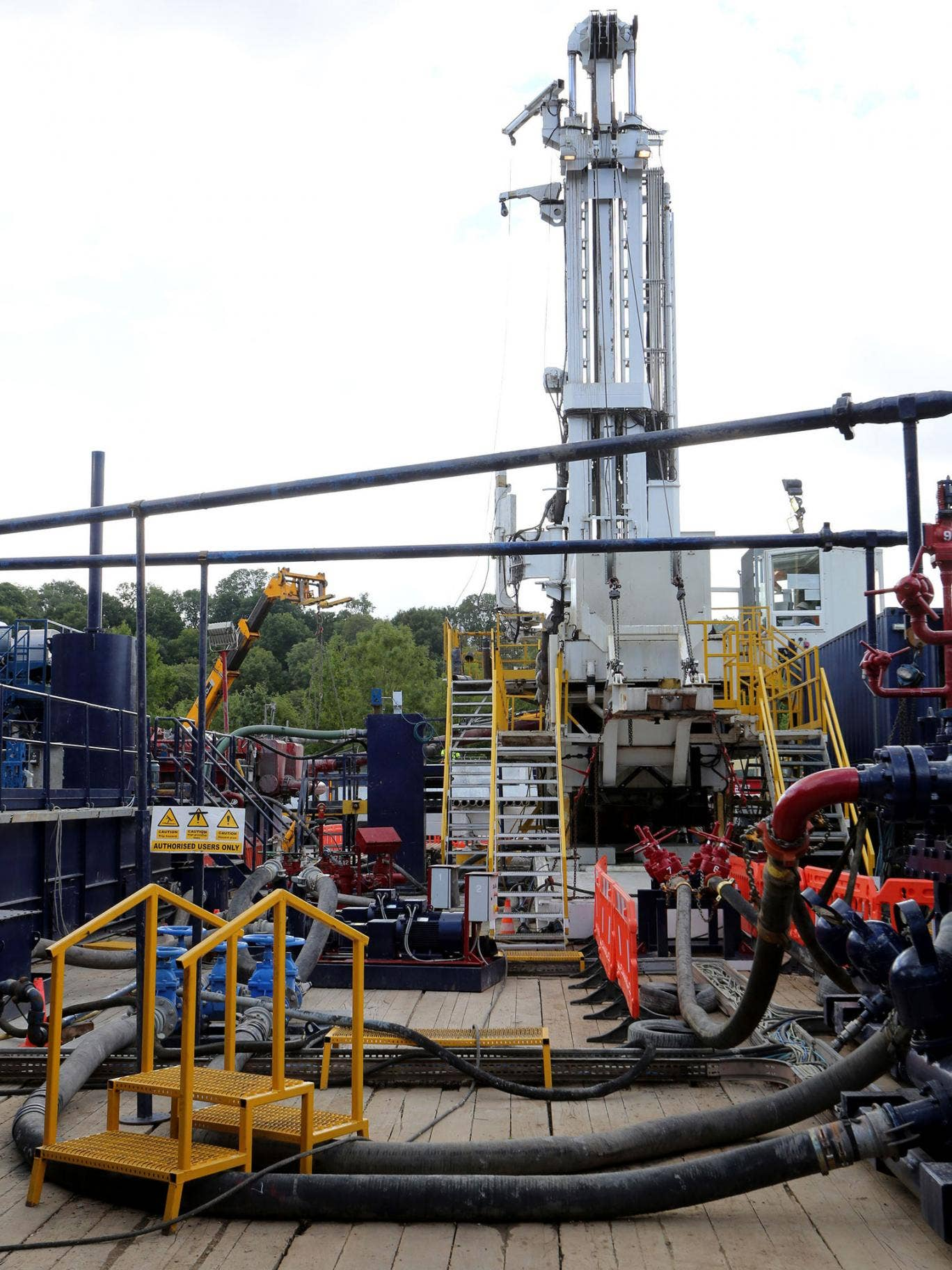 The Cuadrilla exploration drilling site in Balcombe, West Sussex. The latest bidding process for shale companies seeking licences to explore for oil and gas has opened