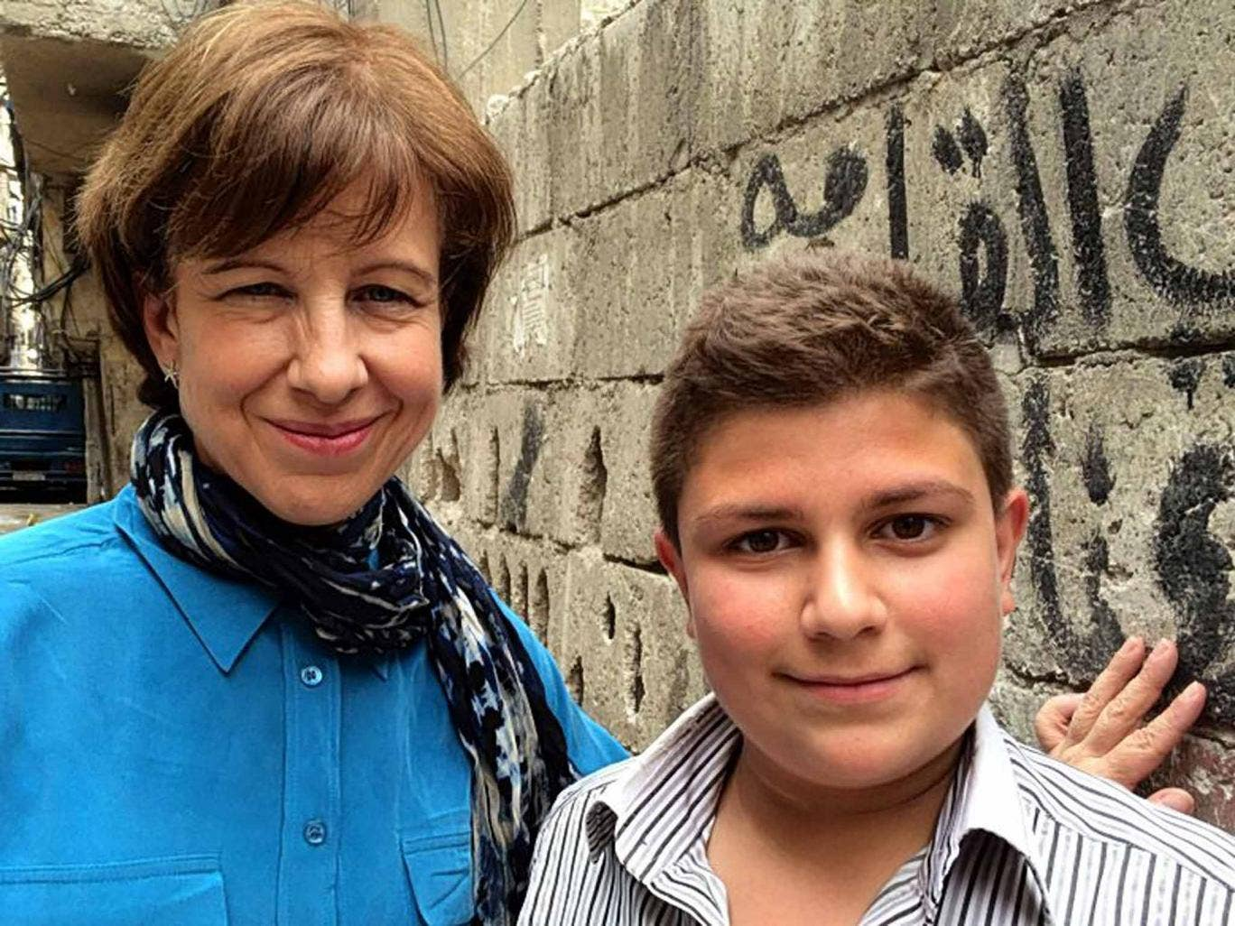 Back to the wall: Lyse Doucet with Jalal in 'Children of Syria'