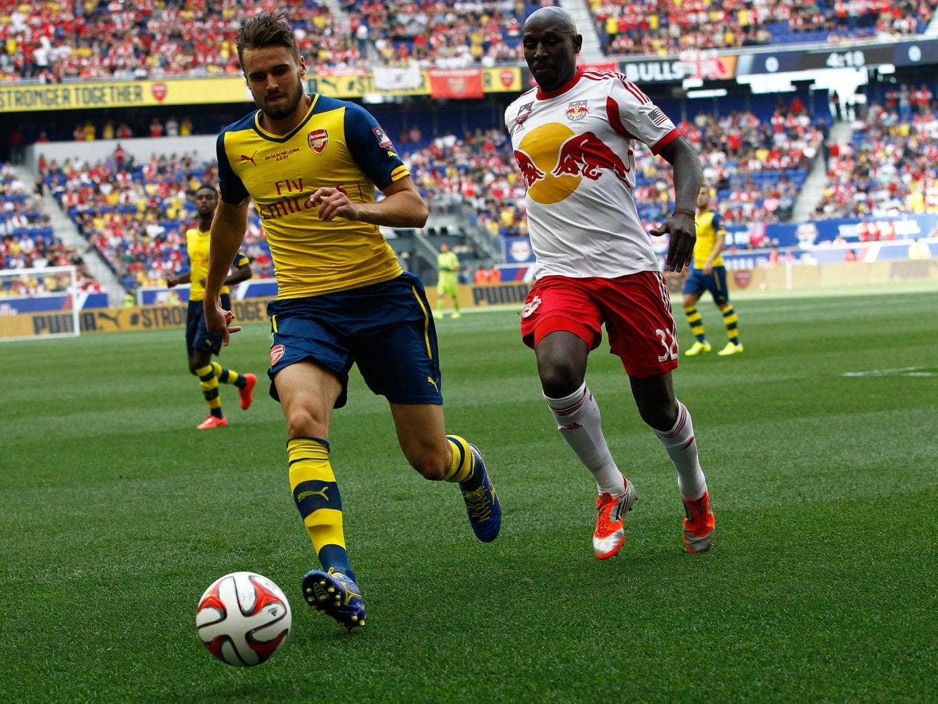 Carl Jenkinson in action for Arsenal against the New York Red Bulls