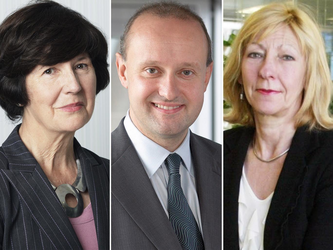 Baroness Sarah Hogg, Nick Prettejohn and Baroness Patience Wheatcroft