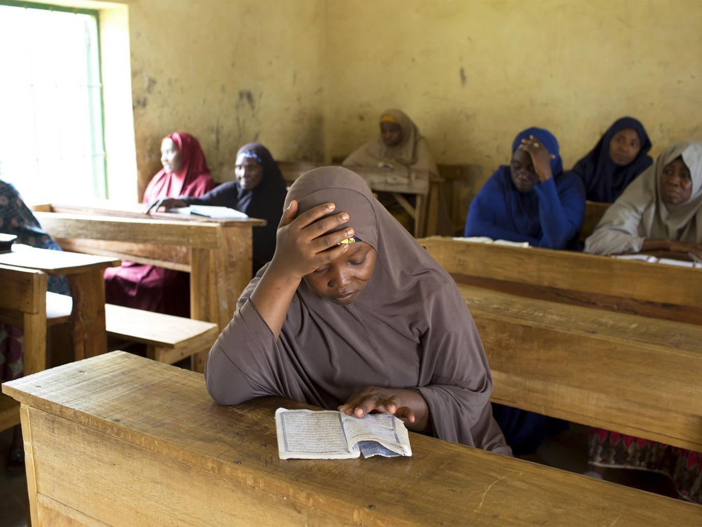 Women study at the Maska Road Islamic School in Kaduna