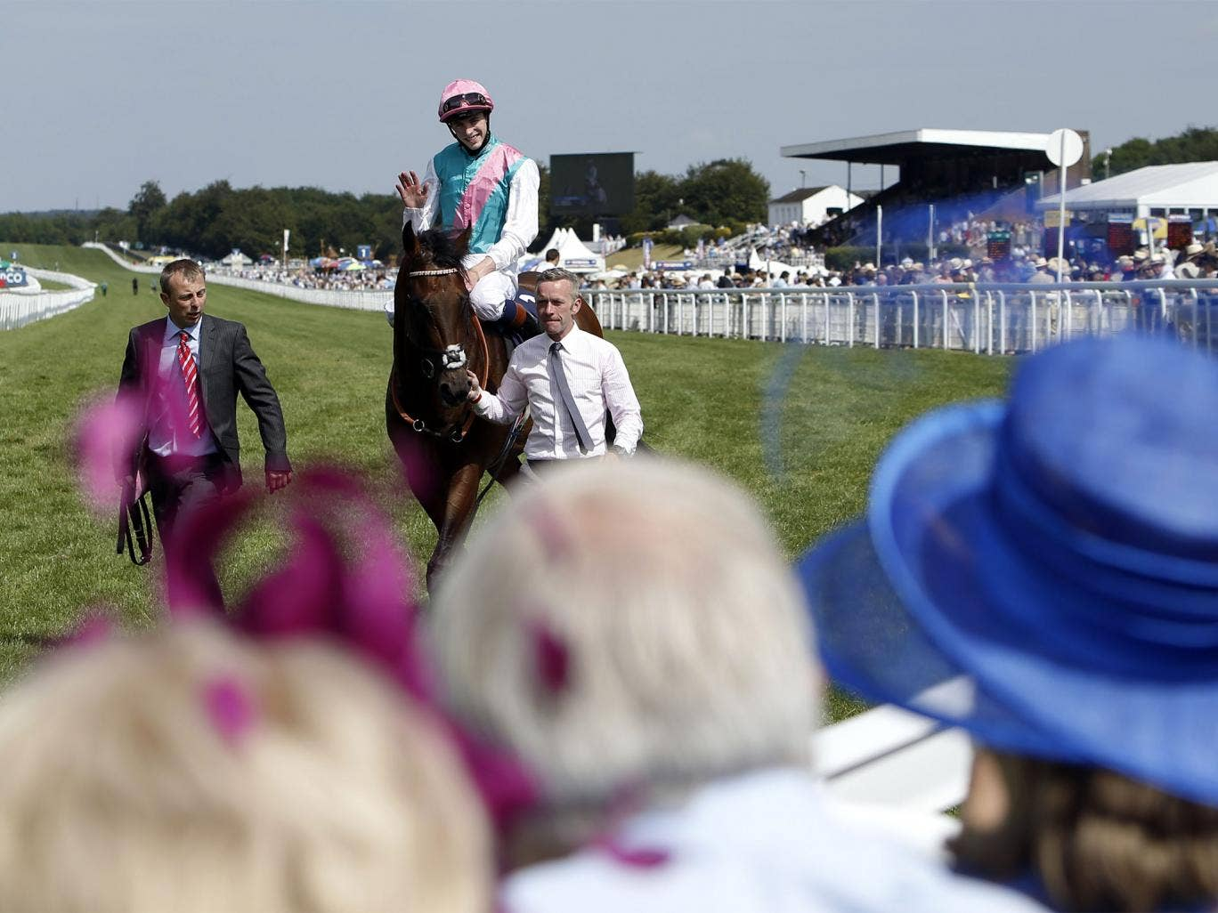 James Doyle returns in triumph aboard Kingman after the Sussex Stakes
