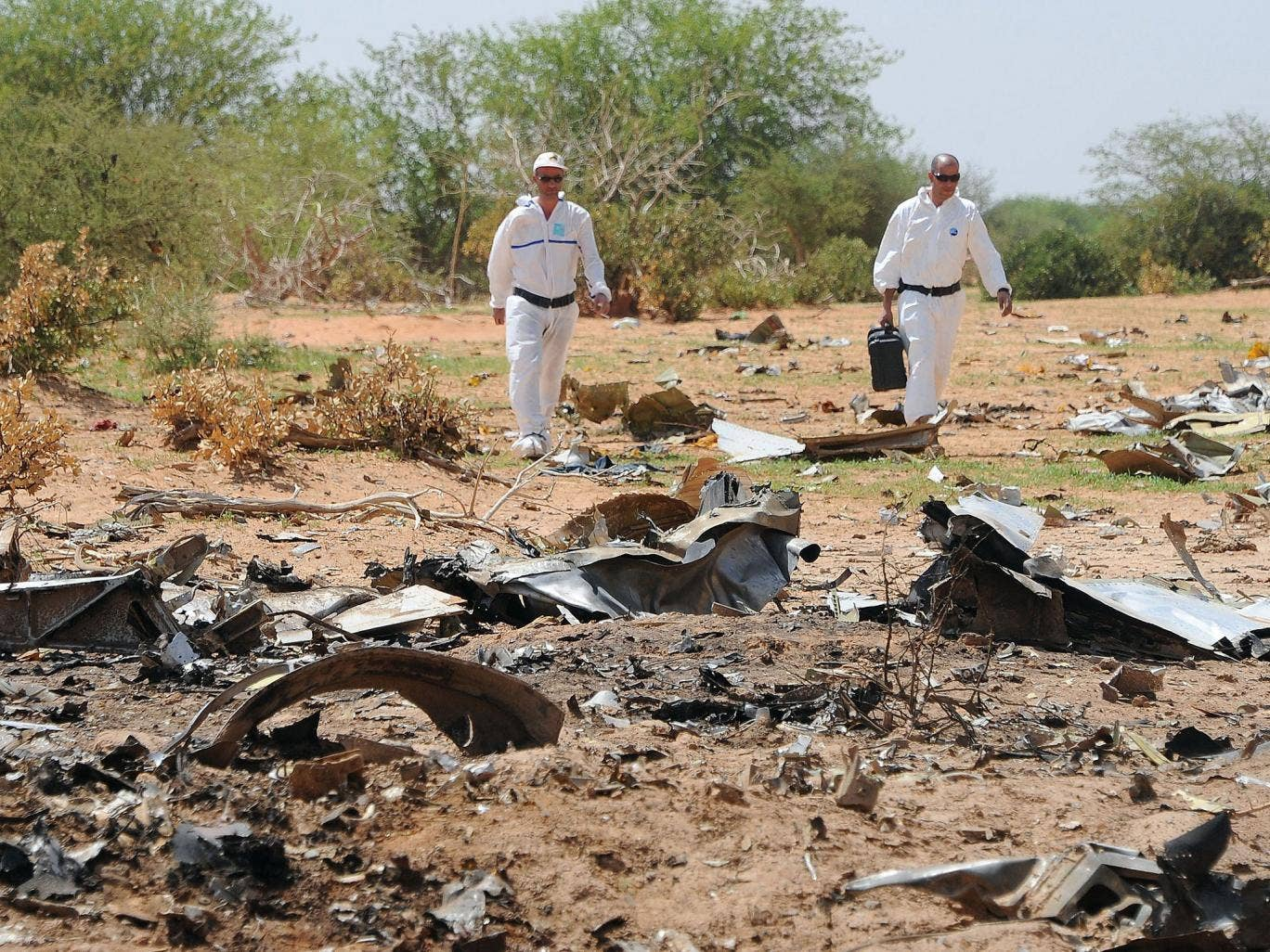 Debris from the Air Algérie aircraft crash