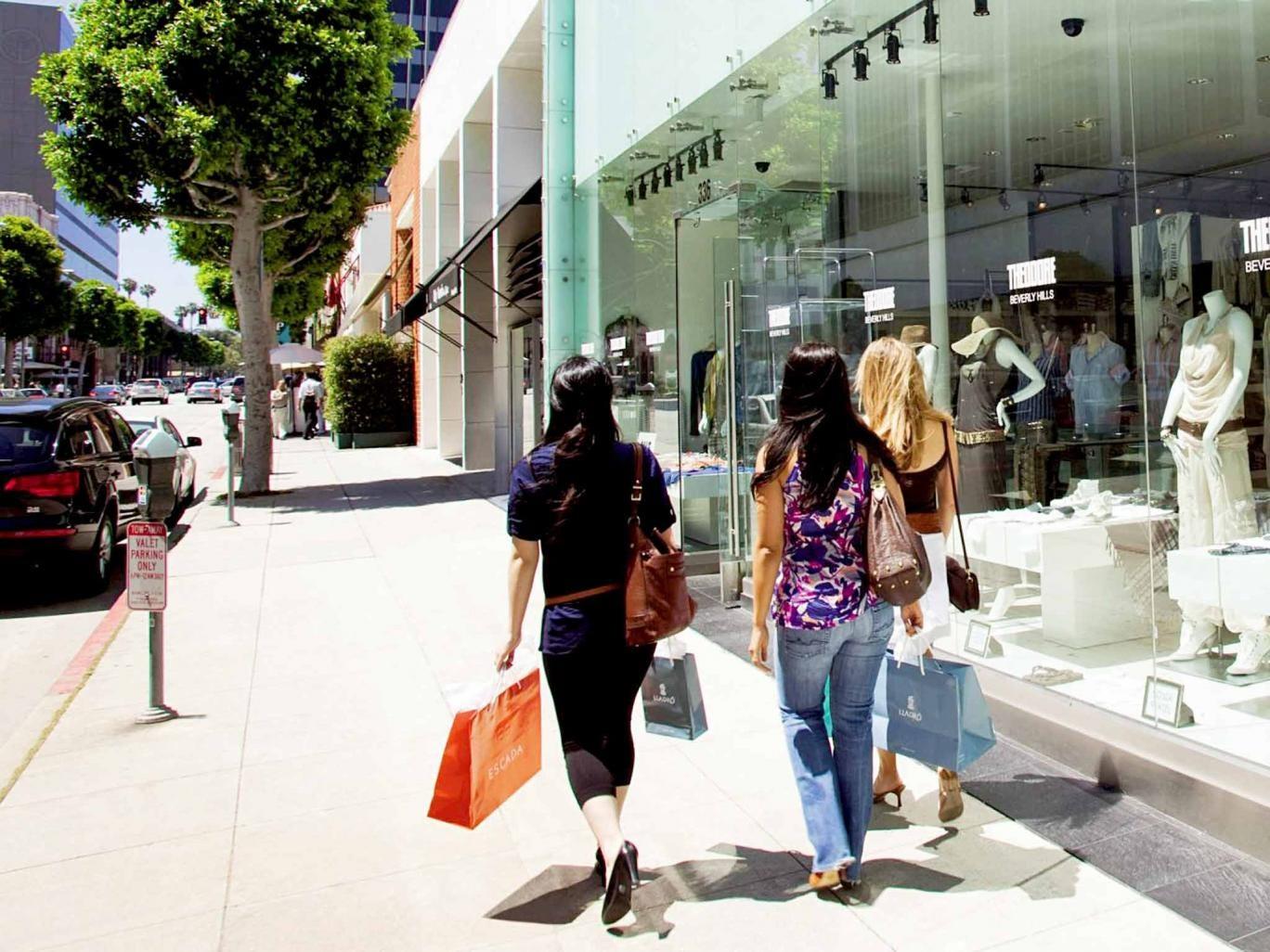 Don't walk: hitting the shops