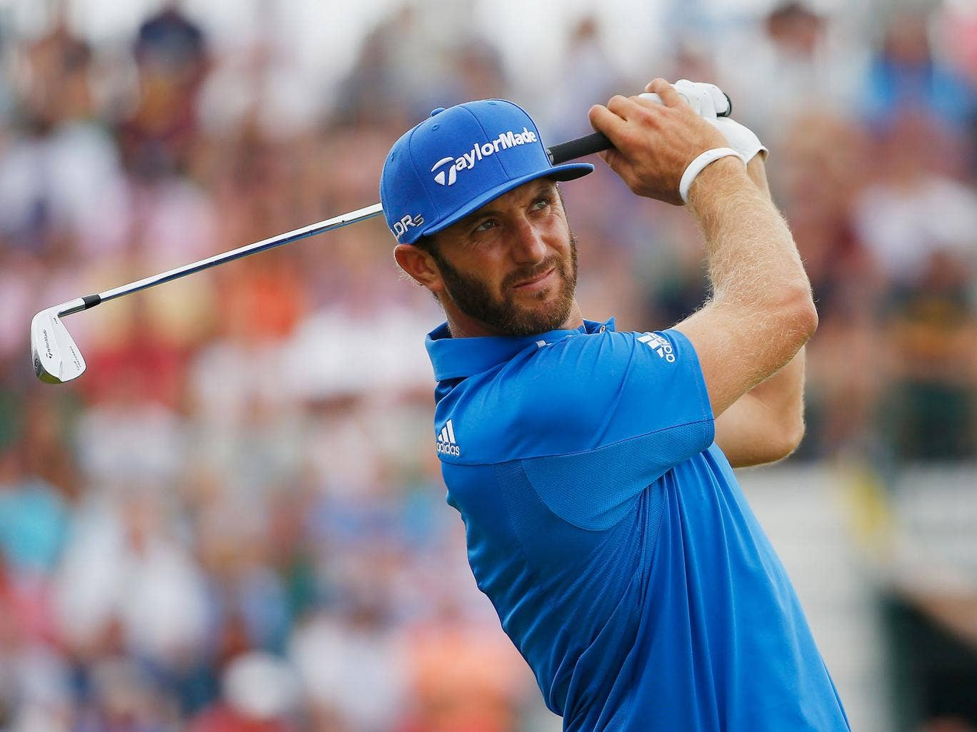 Dustin Johnson in action during the Open Championship