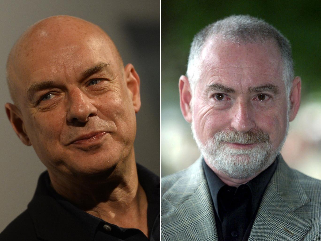 Musician Brian Eno (left) and Peter Schwartz