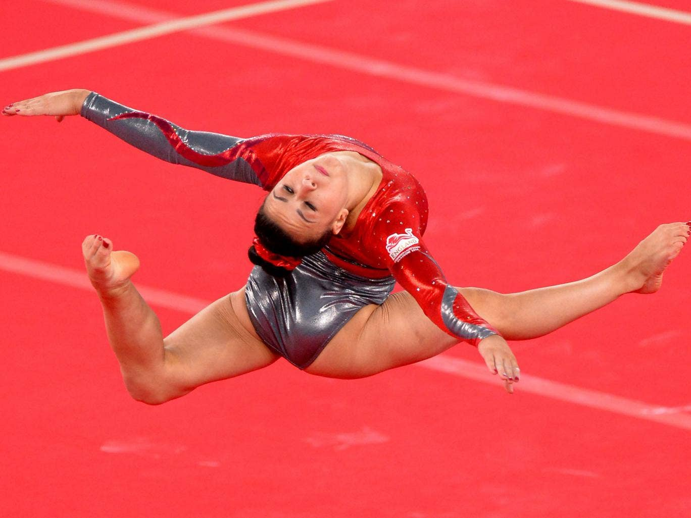 Claudia Fragapane on her way to an impressive gymnastics gold in the floor yesterday