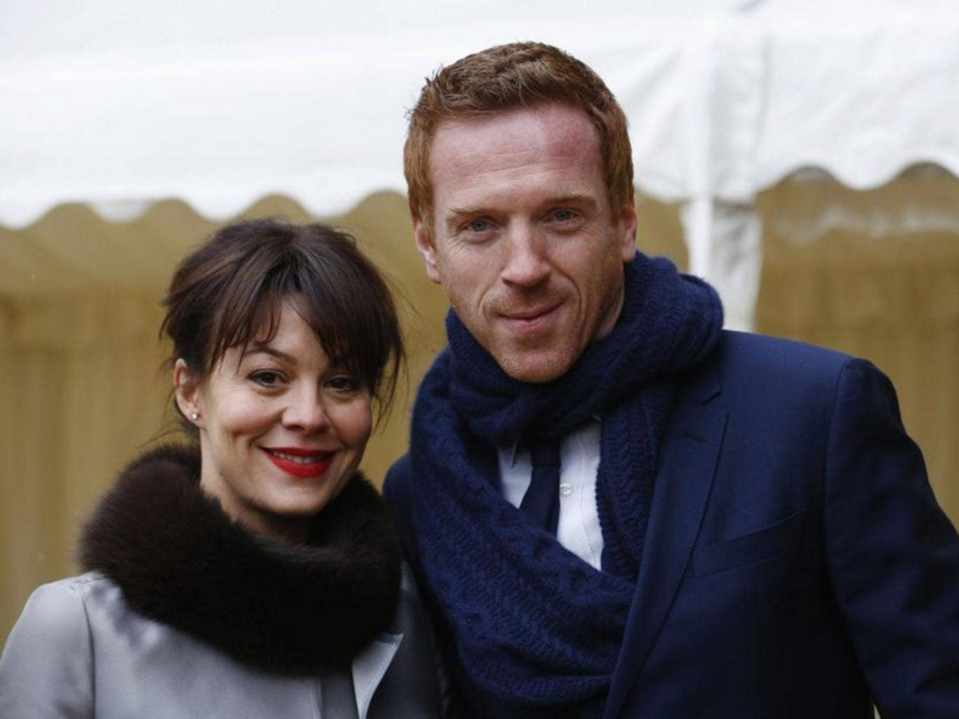 Actor Damian Lewis was not recognised while watching his wife Helen McCrory play Medea