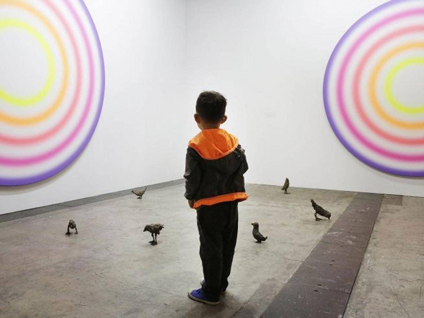 A gallery visit? Leave the children at home, says top artist