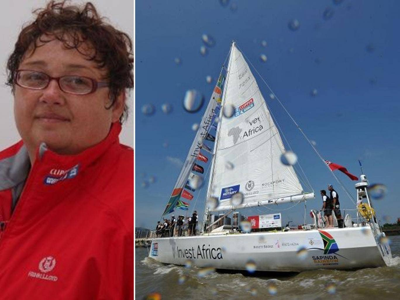 Rough seas: Ruth Harvey paid to join the race but argues that she was, in effect, an employee