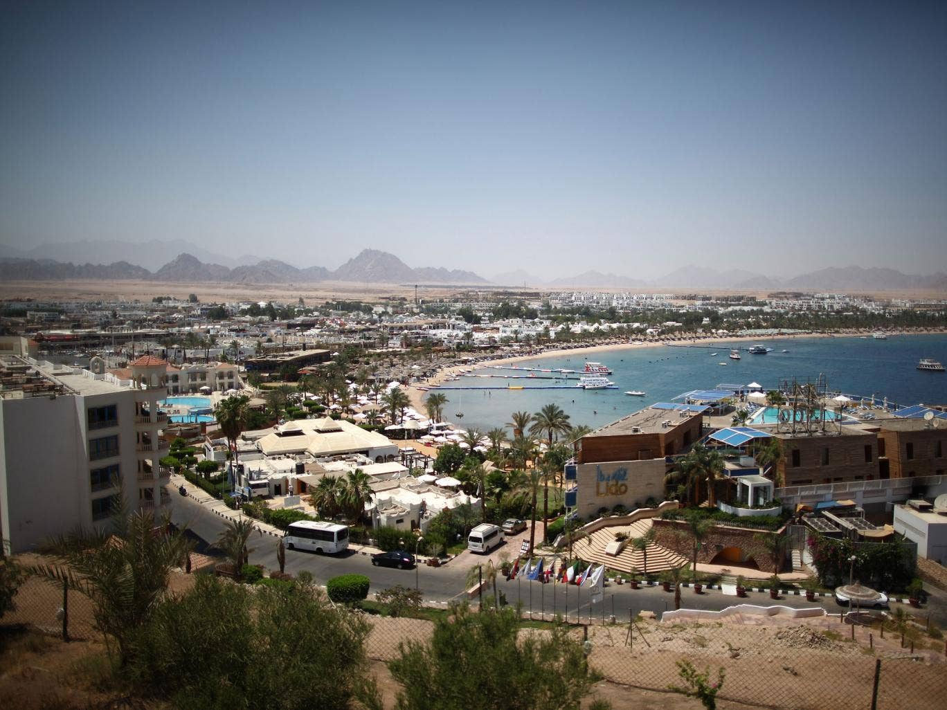 The popular Egyptian resort of Sharm el Sheikh